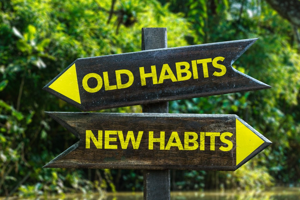 old habits vs new habits concept